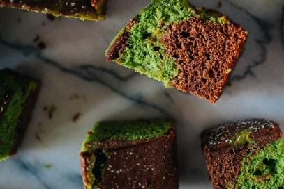 Ciambella al cioccolato e al te verde