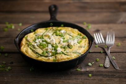 Frittata con asparagi e gorgonzola
