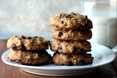 Biscotti d'avena e gocce di cioccolato