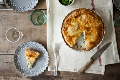 Quiche con broccoli e gorgonzola