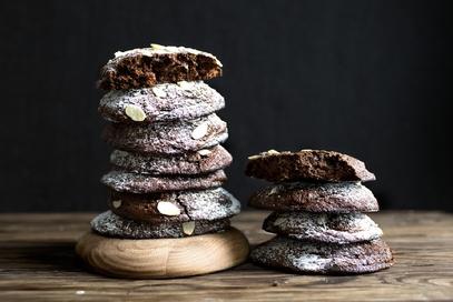 Biscotti al cioccolato con le mandorle