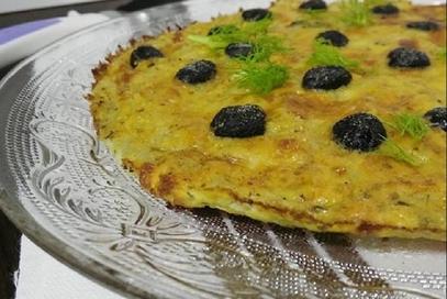 Frittata ai finocchi e olive nere