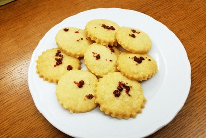 Biscotti salati al pepe rosa