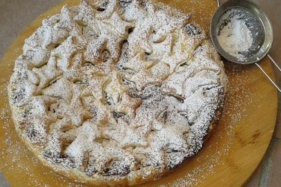 Torta di pasta sfoglia con nutella e mascarpone