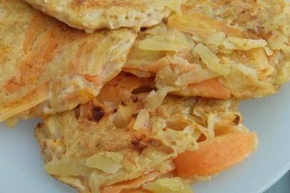 Rösti di patate e carote