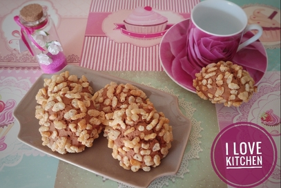 Biscotti al nesquik con riso soffiato