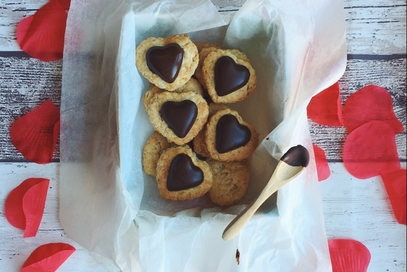 Biscotti vegani alla vaniglia e cioccolato