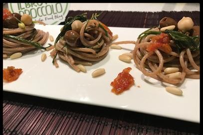 Spaghetti farro agli agretti