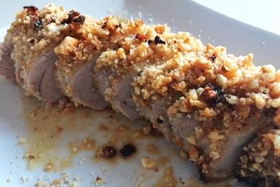 Filetto di maiale con nocciole all'olio di argan