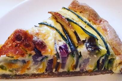 Brisèe integrale con verdure e crema di formaggio
