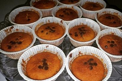 Muffin con marmellata d'arancia e cioccolato