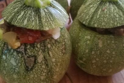 Zucchine tonde alla parmigiana