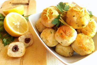 Polpette di tacchino e olive al limone