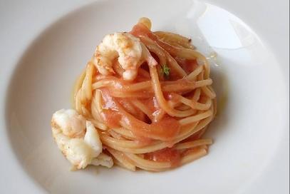 Spaghetto quadrato tutto scampi