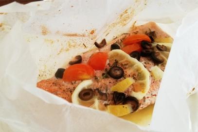Filetto di trota salmonata al limone e timo