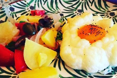 Cloud egg e insalata pantesca
