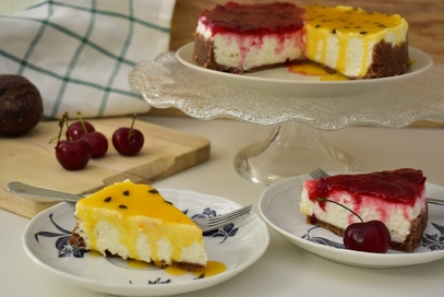 Cheesecake duo senza cottura