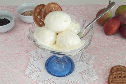 Gelato alla vaniglia senza gelatiera