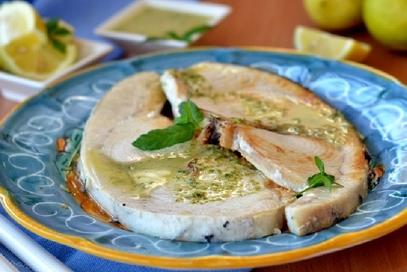Tranci di pesce spada aromatizzati al limone