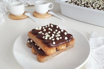 Tiramisù di crema al cacao