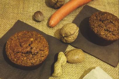 Muffin integrali di zucca e carote