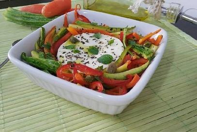 Primosale al forno con julienne di verdure
