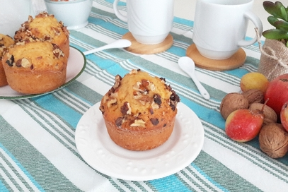 Muffins alla zucca e noci