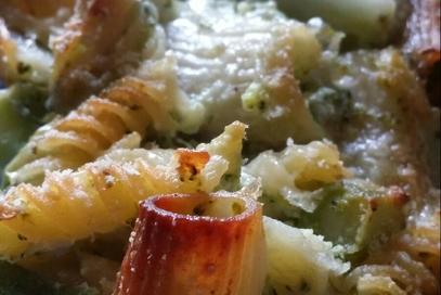 Pasta al forno con broccoli e gorgonzola