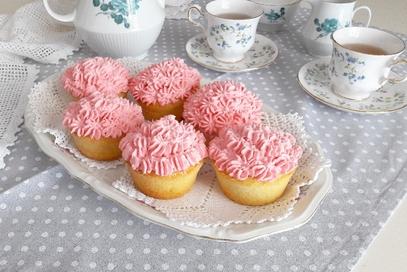 Cupcakes all'arancia con frosting al mascarpone