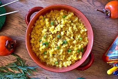 Zuppa di lenticchie rosse al curry e fagiolini