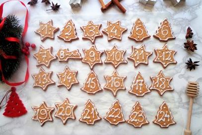 Biscotti natalizi per calendario dell'avvento