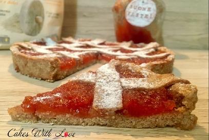Crostata integrale con marmellata di mele cotogne