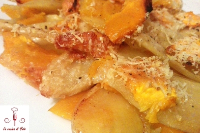 Pasticcio di zucca e patate
