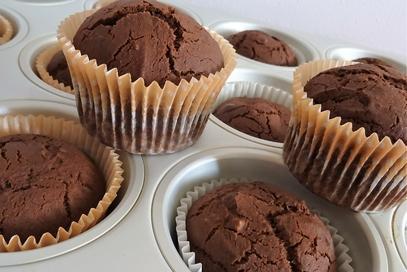 Muffin vegano al cioccolato