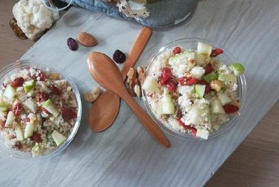 Cous cous di cavolfiore bianco e frutta secca