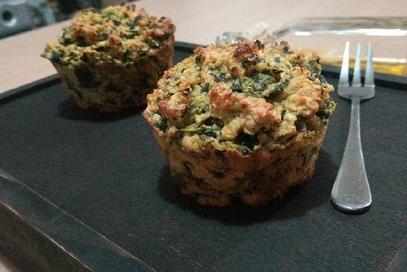 Muffin salati ai fiocchi di avena