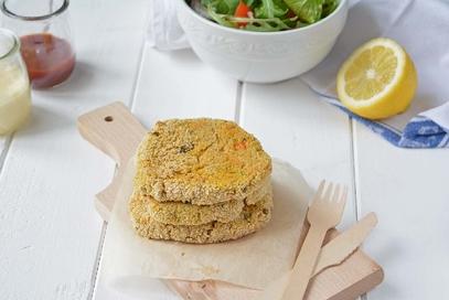 Burger di ceci e verdure vegani