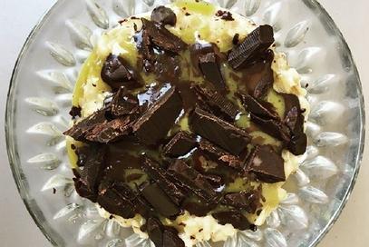 Overnight porridge ciocco pistacchio