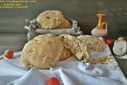 Simeddha pane con zucchine e pomodori