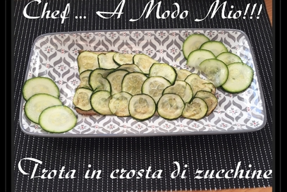Trota in crosta di zucchine