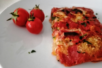 Parmigiana di zucchine senza cottura