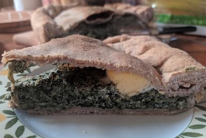 Torta pasqualina integrale con bietole